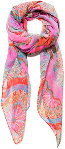 Desigual Rectangle Foulard Soft Mandala Woman Pink Bufanda, Nube Rosa 3121, Talla única para Mujer