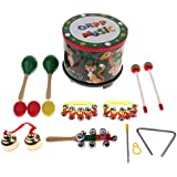 Homyl Kids Musical Instruments Set Wooden Percussion Toys For Early Childhood Education