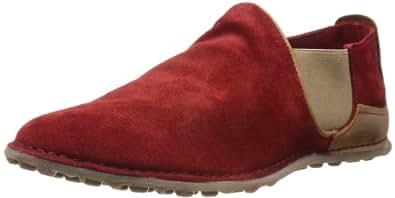 Fly London Mens Birk Loafers P801328001 Red/Camel 8 UK, 42 EU