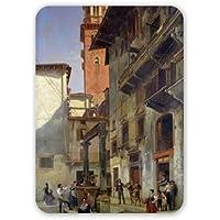 Via mazzanti, Verona, 1880 (olio su tela). . - Tappetino