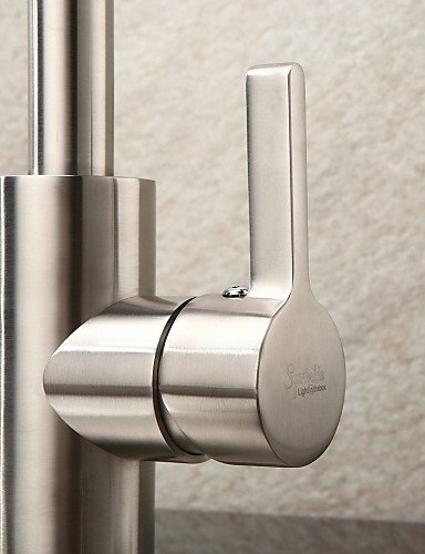 AI LI WEI Bathroom Furniture - Contemporary Stainless Steel Brushed Chrome Finish Kitchen Faucet