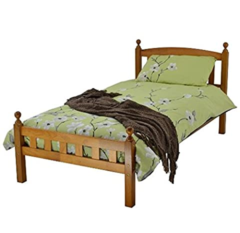Timeless Solid Rubberwood Bed Frame - Solid Wood Construction -
