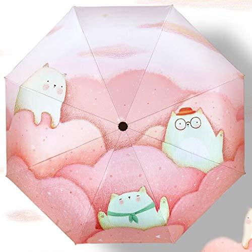 Parasols de Protection parasols de Protection UV Parasols pluviaux à Usage Domestique Rain and Rain Parasols pliants Trois Couleurs Disponibles FKMYS (Color : Pink)
