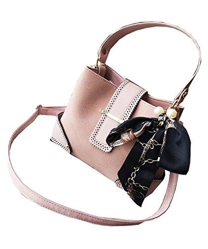 FZHLY Sacchetto Di Spalla Casuale Del Sacchetto Della Scatola Del Sacchetto Casuale,Black Pink