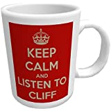 Keep Calm and Listen to Cliff Richard - Glossy Ceramic Mug