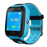 ETbotu Anti-Perdu Le traqueur GPS SOS Appelle Le téléphone Intelligent de Montre de GSM for Android iOS Bleu...