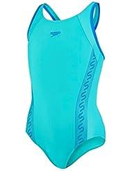 Speedo Monogram Muscleback–Bañador de mujer, color Azul (Blue/Neon Blue), talla 5-6 años