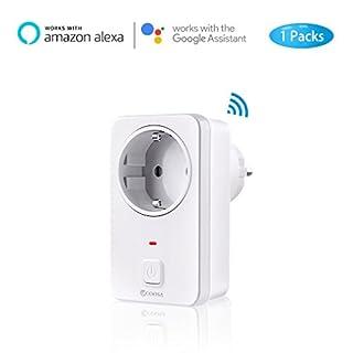 Smart Steckdose COOSA intelligente WLAN Steckdose smart Wifi Steckdose WLAN Alexa Steckdose funktioniert mit Amazon Alexa [Echo, Echo Dot] und Google Home ,App Steuerung von IOS und Android mit Timing Funktion überall und zu jeder Zeit
