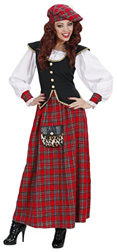 Schotten-Kostüm mit langem Kleid für Frauen
