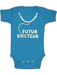 Futur Docteur -Cadeau naissance pour Enfant de médecin Body Bébé Manche Courte