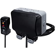 British General Weatherproof Masterplug Outdoor Power Kit with 2g IP66 Switched Socket/ 3m Cable/ RCD plug