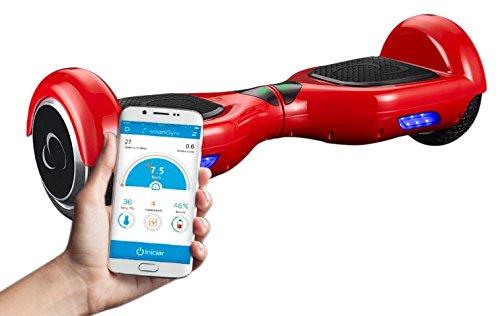 SmartGyroX2, Patinete eléctrico con batería Samsung y certificado UL2272, color rojo, talla 6.5