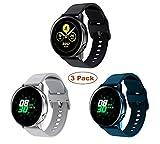 Yayuu Compatible Samsung Galaxy Watch Active 40mm Correa de Reloj 20mm Silicona Banda de Reemplazo Pulsera para Galaxy Watch 42mm SM-R810/Gear Sport/Gear S2 Classic/Garmin Vivoactive 3/Ticwatch 2