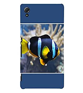 PrintVisa Colourful Fish 3D Hard Polycarbonate Designer Back Case Cover for Sony Xperia Z4