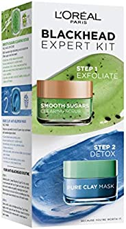 L'Oreal Paris Smooth Sugars Kiwi & Pure Clay Blue - Blackheads Ex