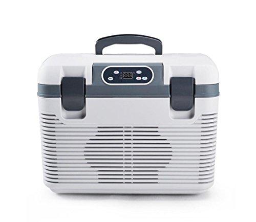 Réfrigérateur à voiture 19L, réchauffeur de refroidissement 12V / 24V et 220V pour Minivan SUV Accueil, grand espace avec poignée, pour l'été Hiver Camping Voyager