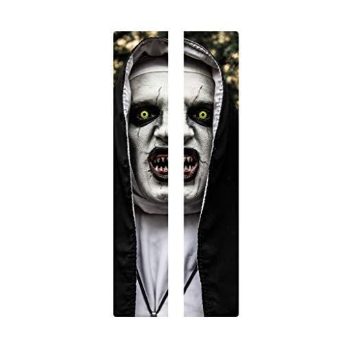 Kostüm Kinder Neueste - Myspace 2019 Neueste Dekoration für Halloween Türbild Halloween Ghost Sticker Peel & Stick Wallpaper Aufkleber Horrible Skull