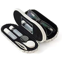 Balvi - Twin Estuche para Gafas y lentillas con Espejo Incorporado.
