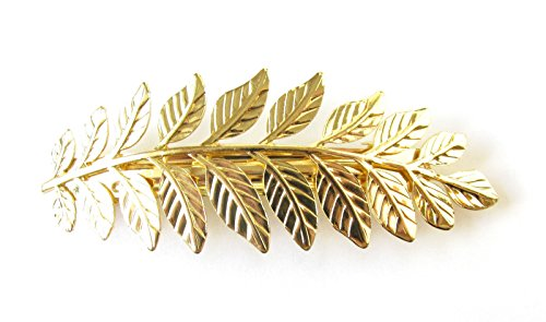 gold-laurel-leaf-barrette-hair-clip-roman-grecian-vintage-boho-olive-pin-s94-exclusively-sold-by-sta