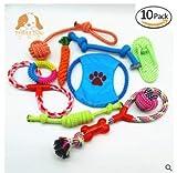 Monbedos Hundespielzeug aus Seil, Karotte, Seil mit Bällen, Seil, Knochen, Geschenkbox, für mittelgroße bis Kleine Hunde, 10 Stück