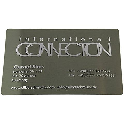 10 x le carte di credito in alluminio