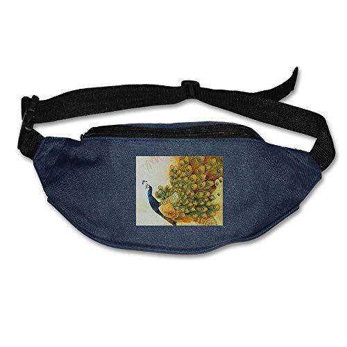 ckets Sketch Peacocks Fanny Pack Waist/Bum Bag Adjustable Belt Running Cycling Bag ()