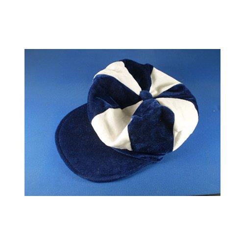 Kostüm Jockey Pferderennen - Marineblau & Weiß Schiebermütze Neuheit Jockey Kostüm Hut Pferderennen