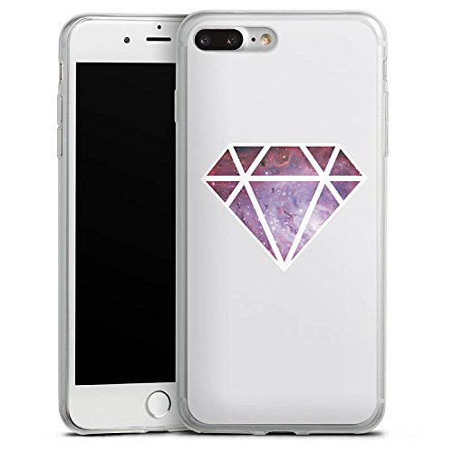 Apple iPhone 8 Slim Case Silikon Hülle Schutzhülle Diamant Galaxie Hipster Silikon Slim Case transparent