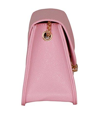 Pelle QPALZM PU Ms Europa Solid Croce Modello Della Catena Di Modo Diagonale Tracolla 28.2 Once (oz) Pink