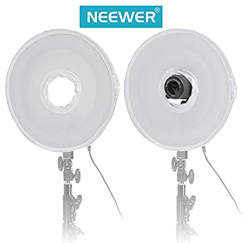 Neewer 35 cm 35 cm pliable vidéo lumière Softbox Diffuseur Boite pr Neewer Bague anneau Fluorescent Lumière Flash 400 W Dimmable