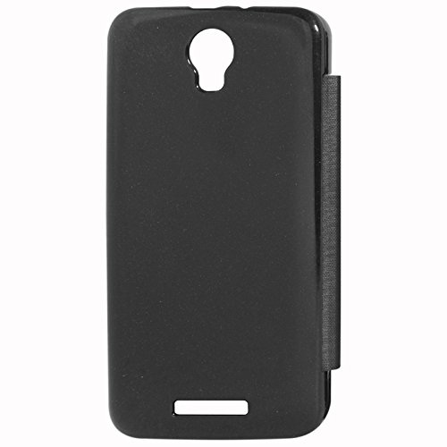DMG Premium Flip Cover Case for Micromax Canvas Juice 2 AQ5001 (Black)
