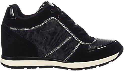 Guess Fllce3 Sue12, Sneakers basses femme Noir