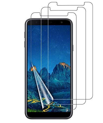 VICKSONGS Schutzfolie für Samsung Galaxy J4 Plus/J6+, 3 X Bildschirmschutzfolie (Nicht Glas) Soft Bildschirmschutz Anti-Bläschen Anti-Fingerabdruck Bildschirmfolie Folie Screen Protector für Galaxy J4+/J6+