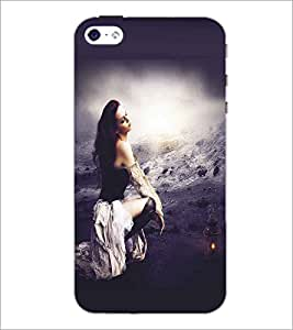 APPLE IPHONE 4 LONELY GIRL Designer Back Cover Case By PRINTSWAG