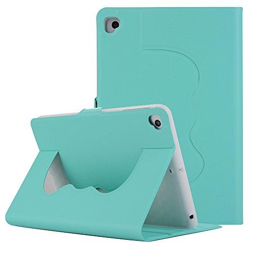 9.7 Zoll Hülle für iPad Air 2, TechCode Premium PU Leder Nette reizende Muster Leichte Slim Fit Folding Flip Stand Folio Abdeckungs Hülle für 9.7 Zoll iPad Air 2 / iPad Pro 9.7 (Grün)