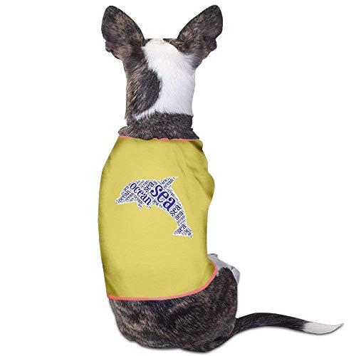 Delfin Hunde Kostüm - GSEGSEG Sea Ocean Delfin Lovely Hund Katze Hemd Kostüm Haustier Hund Kleidung Polyester T-Shirt Welpen Kostüm Welpen Hund Kleidung Kleidung Kleidung
