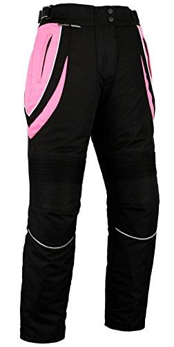 Pantalones de motociclismo para mujer - Impermeables y con protector homologado por...