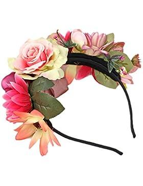 MagiDeal Boho Damen Mädchen Blume Haarreif Blumenstirnband Garland Festival Hochzeit Braut Brautjungfer Haarband...