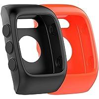 Para Polar M430Protective Case Cover Protector Funda de Carcasa Flexible Suave Banda de silicona de repuesto pantalla para Polar M430reloj correa accesorios, 2-Pack-G