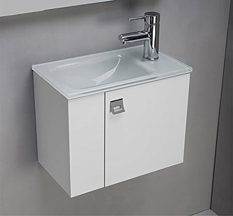 Plan Vasque Verre - Meuble salle de bain avec Plan vasque