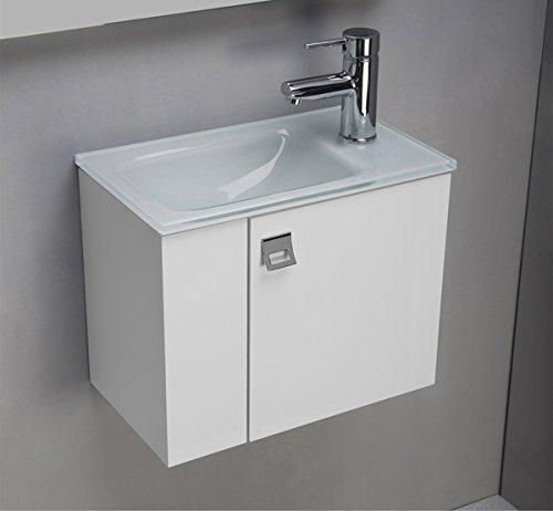 Unterschrank mit glas-gaeste-wc-waschtisch Optiwhite CM 44