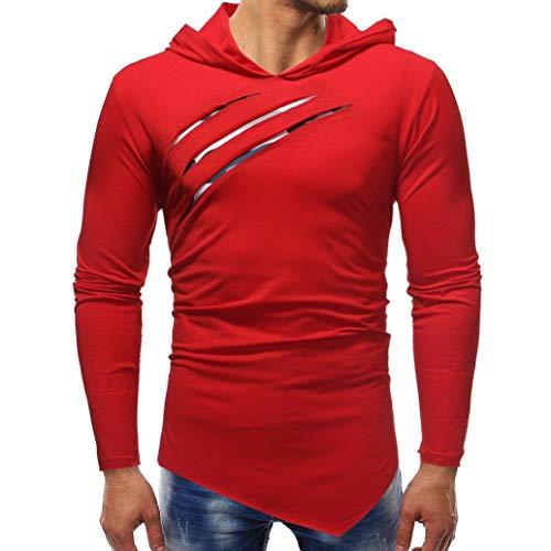 Paolian T-Shirt de Couture décontracté Camouflage à Manches Longues pour Hommes, élégant et Confortable Chandail d'automne et d'hiver pour Hommes