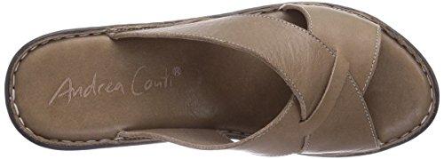 Andrea Conti 0799224066, Chaussures de Claquettes Femme Marron - Braun (taupe 066)