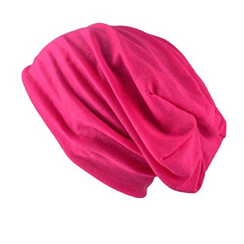 Bonnet, chapeau léger et fin en jersey pour femmes et hommes - unisex by oramics - couleurs différentes Rose