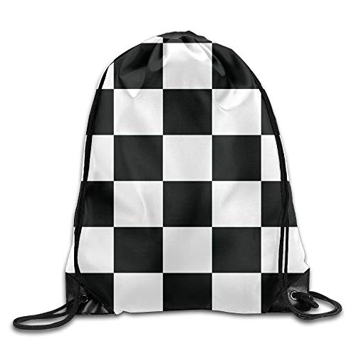 False warm warm Waving Checkered Flag Car Racing Unisex Drawstring Backpack -