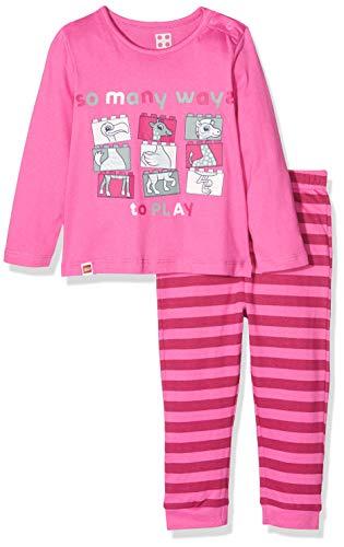 LEGO Baby-Mädchen CM-50440-PYJAMAS Zweiteiliger Schlafanzug, Rosa (Pink 466), (Herstellergröße: 80)
