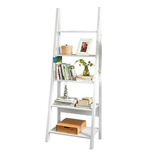 SoBuy® Estanterias librerias,Estanterias de diseño,Estantería de Esquina,Blanco,FRG61-W, ES