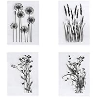 transparent Dekorationswerkzeug f/ür Scrapbooking Fotoalbum Lpyfgtp Silikon-Stempel mit Blumen