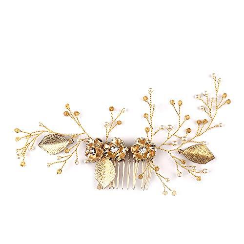 LJCP Blüten Haarkamm Kopfbedeckung Hochzeitskleid Braut Ornament