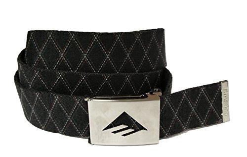 Emerica Decible Belt - Reversible Canvas Unisex Belt with Embossed buckle - OSFA